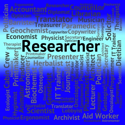 """Researcher Job Shows Gathering Data And Analysis"" by Stuart Miles"