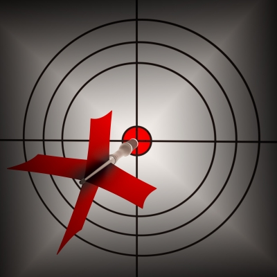 """Arrow Aiming On Dartboard Shows Aiming Accuracy"" by Stuart Miles. From Freedigitalphotos"