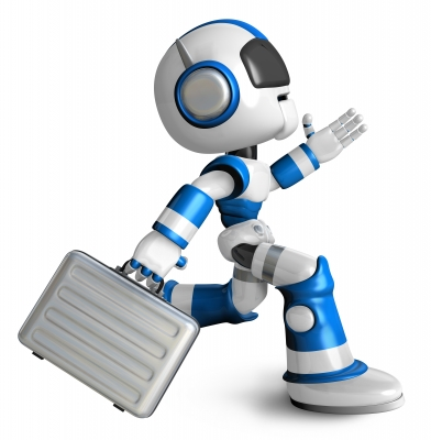 """""""Ran The Blue Robot Holding A Briefcase. 3d Robot Character Desig"""" by Boians Cho Joo Young"""