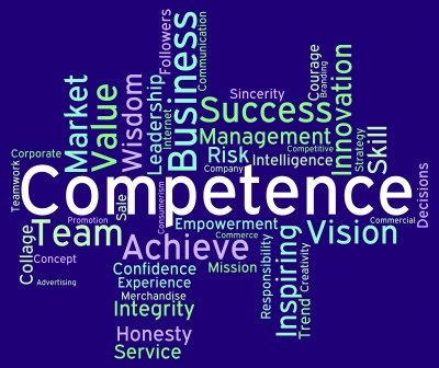 "Competence Words Represents Capability Aptitude And Adeptness"" by Stuart Miles"
