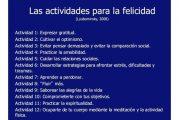 Actividades para la felicidad